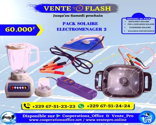 Electroménager 2 pack solaire