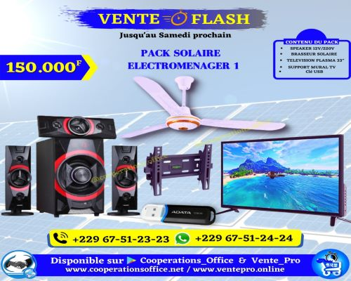 Electroménager 1 pack solaire